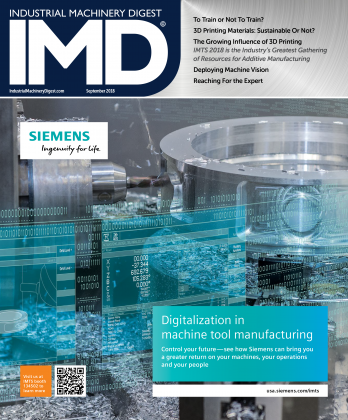 Industrial Machinery Digest, IMD, September, 2018, IMTS, Siemens