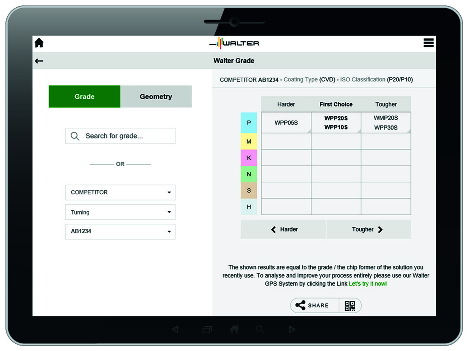 New Walter app helps optimizes indexable insert selection