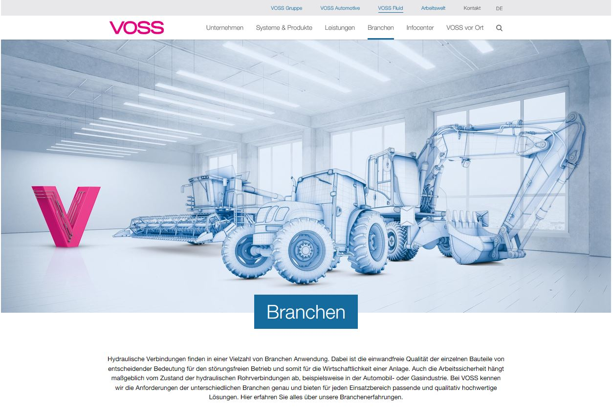 58220dac7e VOSS Fluid relaunches its online presence | Industrial Machinery Digest